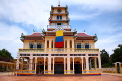A Colorful Temple in Vietnam Stock Photos