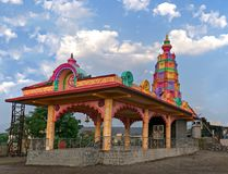 Colorful temple in the village Stock Photography