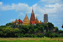 Colorful temples, Thailand Stock Photo