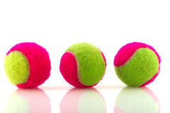 Colorful tennis balls Stock Image