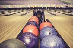 Colorful tenpin bowling ball Stock Photo