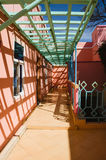 Colorful terrace In Morocco Royalty Free Stock Photos