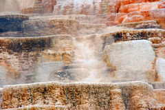 Colorful Terraces of Mammoth Royalty Free Stock Photo