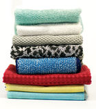 Colorful terry cloth towels. On white background Royalty Free Stock Photos