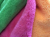 Colorful terry cloth towels Royalty Free Stock Photography