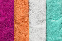 Colorful terry towels Royalty Free Stock Images