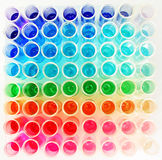 Colorful test tube Royalty Free Stock Image