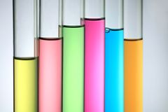 Colorful Test Tube Stock Photography