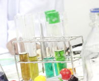 Colorful test tube, Chemical, Science, Laboratory, Stock Image
