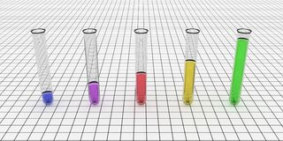 Colorful Test Tube Graph Stock Photo