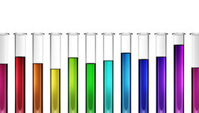 Colorful test tube graph Royalty Free Stock Photos
