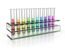 Colorful test tubes. 3d illustration Royalty Free Stock Images