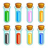 Colorful test tubes Royalty Free Stock Photography