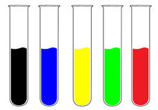 Colorful test tubes Stock Photography