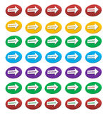 Colorful text arrows icons Royalty Free Stock Photography