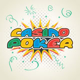Colorful text for Casino. Stock Images