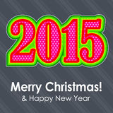 Colorful 2015 text. Christmas and New year Royalty Free Stock Photos