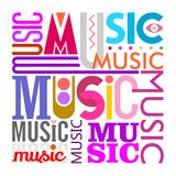 Music text design Royalty Free Stock Photo