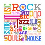 Music Styles text design Stock Image