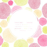 Colorful text frame. Seamless texture with circles Stock Photography