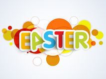 Colorful text for Happy Easter celebration. Colorful paper text Easter on abstract background, can be used as poster, banner or flyer Stock Photography