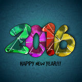 Colorful text for Happy New Year celebration. Creative colorful text 2016 on floral design decorated background for Happy New Year celebration Royalty Free Stock Images