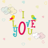 Colorful text for Happy Valentine's Day celebrations. Royalty Free Stock Photo
