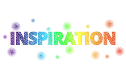 Colorful text INSPIRATION with decoration Royalty Free Stock Photography
