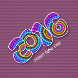 Colorful text 2016 for New Year celebration. Stock Photos