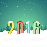 Colorful text for New Year 2016 celebration. Stock Image