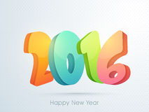 Colorful text 2016 for New Year celebration. Colorful glossy text 2016 on abstract background for Happy New Year celebration Stock Image