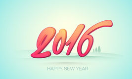 Colorful text 2016 for New Year celebration. Glossy colorful text 2016 on nature background for Happy New Year celebration royalty free illustration