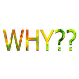 Colorful text - WHY?? stock illustration