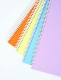 Colorful textbooks stock image