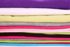 Colorful textile. Big stack of colorful textile Stock Photo