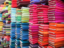 Colorful Textile Background. A background of colorful textile cloth arranged properly Royalty Free Stock Images