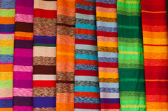 Colorful textile background. Closeup of colorful wool textile Royalty Free Stock Photography