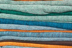 Colorful Textile background. Colorful textile on the market, Brazil Royalty Free Stock Image