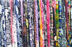 Colorful textile for background texture Royalty Free Stock Photography