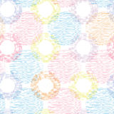 Colorful textile circles seamless patter Stock Photography