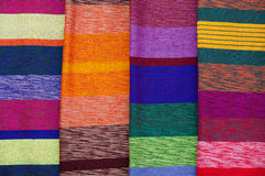 Colorful textile background. Closeup of colorful wool textile Stock Photos