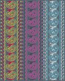 Colorful textile design Royalty Free Stock Photography