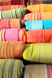 Colorful textile fabrics Stock Image