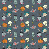 Colorful Textile Halloween Fun Pattern. Stock Images