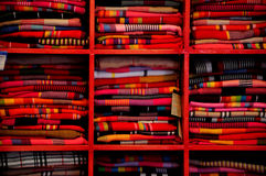 Colorful textile in lijiang yunnan Royalty Free Stock Photos