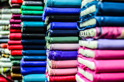Colorful textile materials Stock Photo