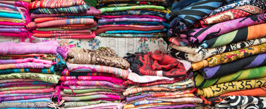 Colorful textile Stock Image