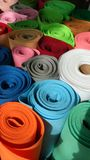 Colorful textile rolls Royalty Free Stock Photo