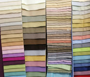 Colorful textile samples Royalty Free Stock Images