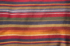 Colorful textile texture. Textile texture with colourful stripes shot from above Stock Photos